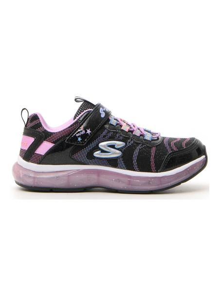 SNEAKERS SKECHERS LIGHTS SPARKS bambina nero | Pittarello