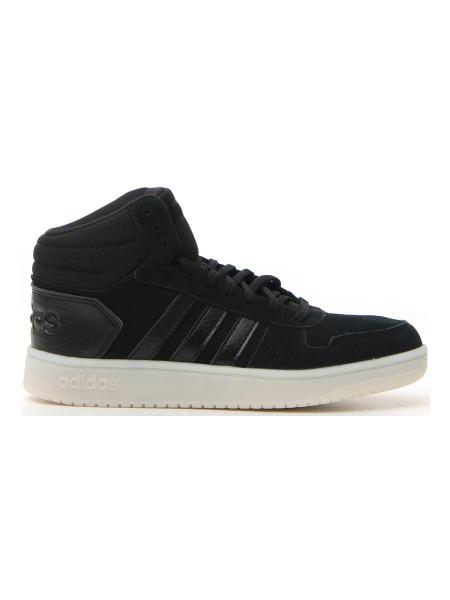 BASKET ADIDAS HOOPS 2.0 MID donna nero | Pittarello