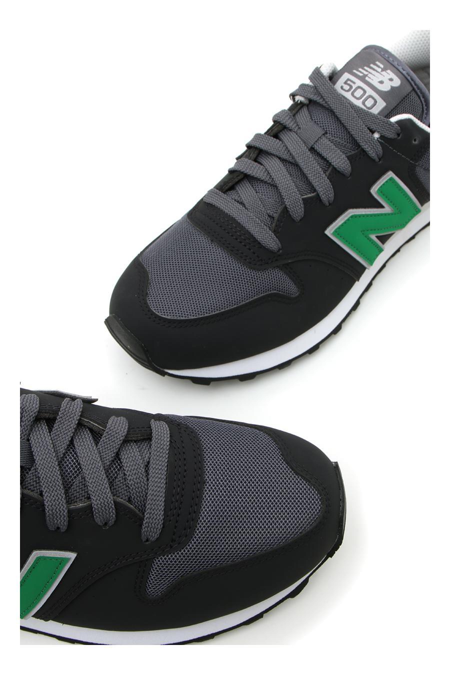 Sneakers New Balance 500 Nero/Verde