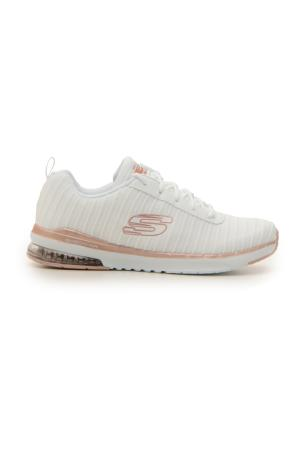 FITNESS SKECHERS AIR INFINITY OVERTIME WHITE ROSEGOLD donna bianco | Pittarello
