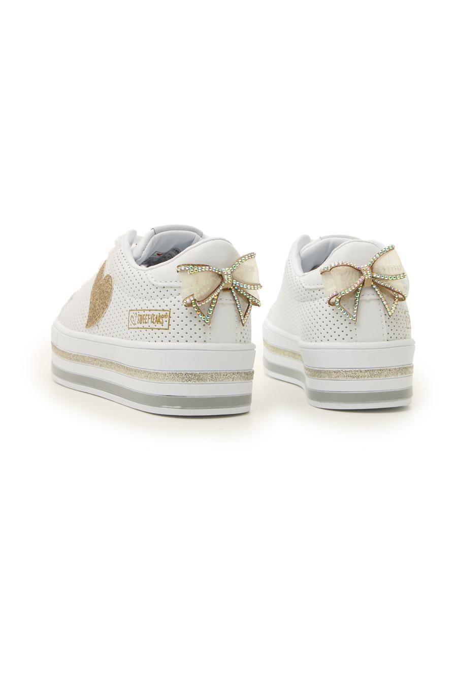 SNEAKERS SWEET YEARS 214 bambina bianco   Pittarello