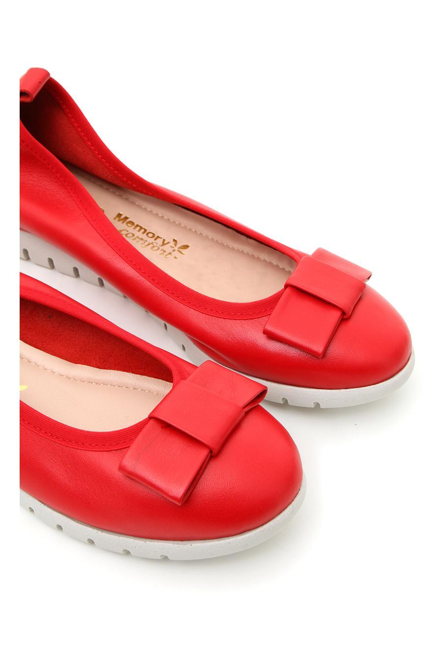 BALLERINE MIO TEMPO 106712 donna rosso | Pittarello